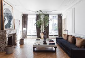 Chic Paris Apartment Chevron Wood Floors