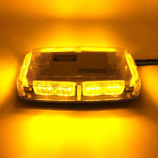 100 Strobe Light For Trucks Amber Truck Vehicle Car Roof Top LED Flash Auto Hazard