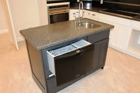 Incomparable Kitchen Island Sink Ideas With Undercounter Dishwasher Also Double Handle Faucet Soap Dispenser