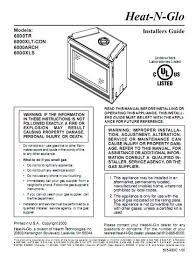 Heat N Glo 6000 Gas Fireplace Manual