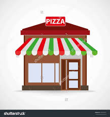 Restaurant Clipart Pizza Store Drawing