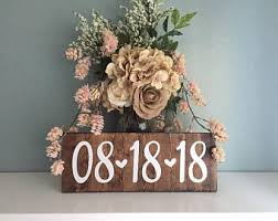 Engagement Photo Save The Date Sign Wedding Rustic Decor Special