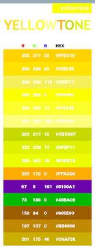 Yellow Tone Color Scheme Web Colors