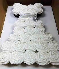 DIY Cupcake Wedding Dress Cake Do It Yourself Fun Ideas