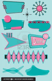 12489716 Set Of 10 Retro 1950s Style Design