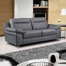 Sofia Vergara Sofa Collection by Grey Leather Furniture Grey Italian Design Modern Grey Italian