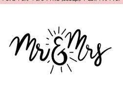 Mr Mrs Svg Wedding Love Graphics SVG Dxf EPS Png Cdr Ai Pdf Vector Art