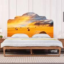 goldene weide kopfteil aufkleber für schlafzimmer decor renovieren aufkleber selbst adhesive wand natürlichen landschaft hintergrund wand aufkleber