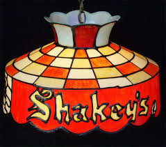 Smoking Lamp Is Lighted by Vntg Shakey U0026 039 S Pizza Parlor Tiffany Style Hanging Lamp Lighted