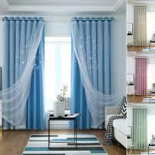 gardinen vorhänge im romantik stil in blau günstig kaufen