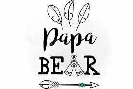 Papa Bear Svg Clipart Digital File Fathers Day Cut