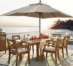 Patio Furniture: Patio Umbrella For Table Home Designs Ideas Cheap ... Jennifer Rizzos Kitchen Refresh Featuring Pottery Barn Seagrass Toscana Table Designs Patio Ding Fniture Chairs Amazing Images Large Outdoor 2lfb Cnxconstiumorg Beautiful Design Used Tropical 71 Off Yellow Set Tables Dning Leather Chair Al Fresco My New Tabletop Has Arrived And A Winner Home 41 Interesting Photographs