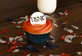 To Honor All Our Veterans I Have Created This Patriotic Marine Corps Cupcake