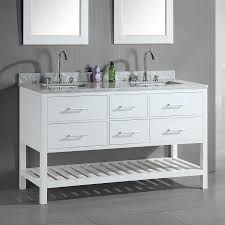 60 Inch Double Sink Vanity Without Top by Shop Design Element London White Undermount Double Sink Bathroom