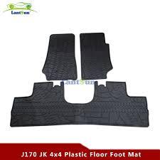 Jeep Jk Floor Mats by One Set J170 4 Door Black Rubber Floor Foot Floor Mat Kit For Jeep