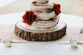 Wood Slab Cake Stand Slice