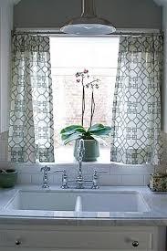 Divine Design Of Kitchen Curtains With White Black