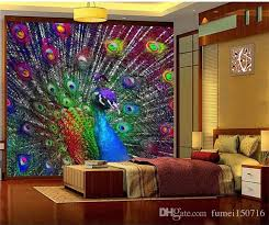 3d Colorful Peacock Open Screen Photo Wallpaper Murals For Living Room Bedroomwall Decor Painting Modern Abstract Art Wall Mural High Definition Desktop