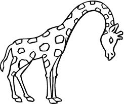 Giraffe Coloring Pages Printableprintablecoloring