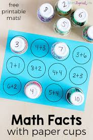 Math Facts Activity With Paper Cups A Simple Way For Kids To Learn