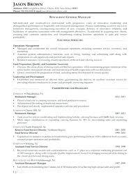 Restaurants Manager Resume Risk Gallery Of Restaurant General Assistant Example 7 Job