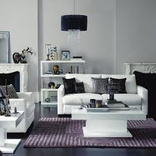 Grey And Purple Living Room Pictures by White Leather Sofa Mauve Purple Lilac Tonal Black Decor