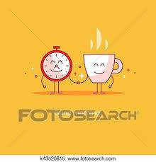 Clipart Of Good Morning New Happy Day Hot Tea Time Break