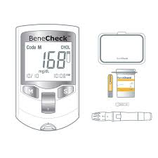 BeneCheck Plus 3in1 Cholesterol Monitor With Case LancetsPen And