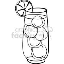 Royalty Free Ice Drink Outline 383045 Vector Clip Art Image