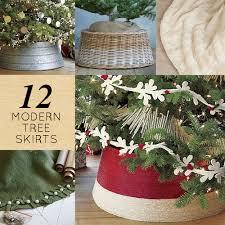 12 Modern Christmas Tree Skirts