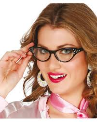 Glasses 50s Retro Look Black