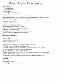Truck Driver Trip Report Template Lovely Resume Examples Best Format