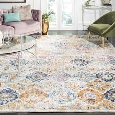 Safavieh Madison Collection MAD611B Cream And Multicolored Bohemian Chic Distressed Area Rug 8 X