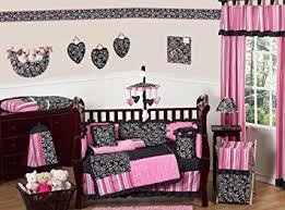 amazon com sweet jojo designs pink and black madison