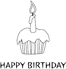 cupcake images to color happy birthday candle on delicious cupcake coloring pages cupcake coloring images