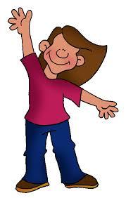 girl waving goodbye clipart