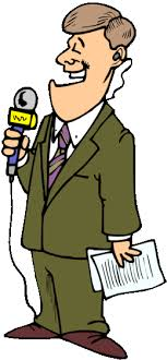 Cartoon Reporters Clipart Journalist Clip Art