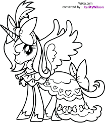Coloring Pages Little Pony Book Games My