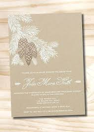 Pine Cone Wedding Invitations Rustic Fir Shower Invitation Perfect For The Winter Bridal Showers