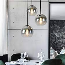 modern design pendelleuchte runde hängeleuchte esstisch le farbverlauf e27 schraubenhalter glaskugel licht wohnzimmer esszimmer kronleuchter