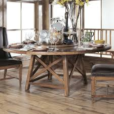 Rustic Round Dining Table For 6 In Unique Furniture Stores