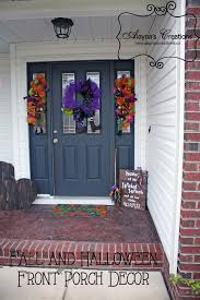 Halloween Front Porch Decor Includes Pallet Pumpkins Deco Mesh Wreaths And Swags Wicked Witch Wooden
