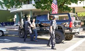 100 Gibson Truck Patriot Prayer Leader Joey Condemns Violence After A