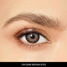 Big Eye Prescription Hazel 1 Month Contact Lenses StunningLens