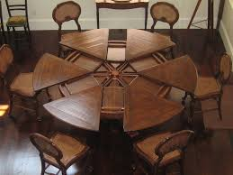 Dining Room Table With Leaf Throughout Round Lovely Kitchen Sets For 8 And Remodel 11