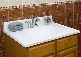 Ebay Bathroom Vanity Tops by 37 In X 22 In Cultured Marble Vanity Top Recessed Bowl Ebay