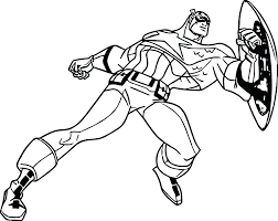 Captain America Coloring Pages Marvel Avengers Civil War Black Panther