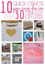 10 Easy Craft Ideas You Can Make In 30 Minutes Or Less