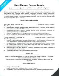 Sales Manager Resume Examples General Sample Page 3