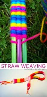 29 Of The BEST Crafts Activities For Kids Parents Love These Too Straw Weaving Creative That Adults Will Actually Enjoy